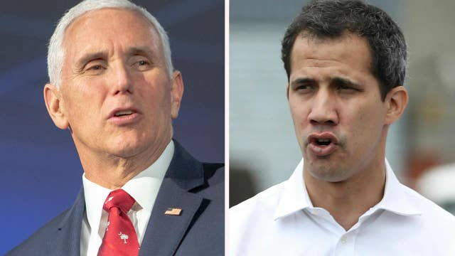 Mike Pence set to meet with Venezuelan opposition leader Juan Guaido in Colombia thumbnail