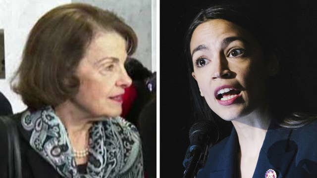 Feinstein, Ocasio-Cortez clash over Green New Deal and how to pay for it