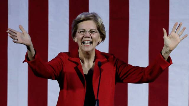 Warren swears off wealthy donors as Trump campaign spends millions on social media