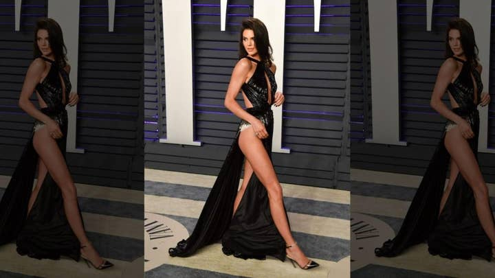 Kendall Jenner wears jaw-dropping dress to Oscars after party