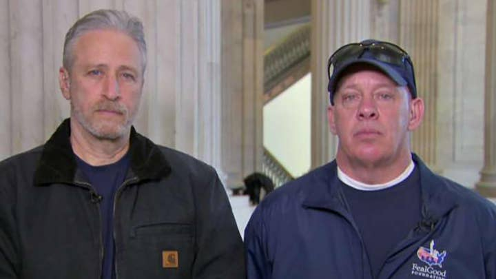 Jon Stewart joins push on Capitol Hill for a permanent compensation fund for 9/11 first responders