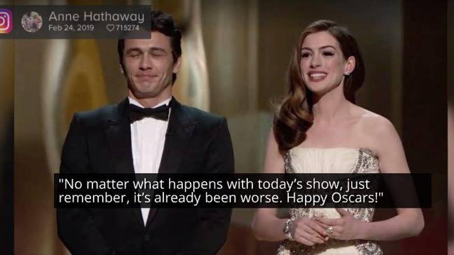 Anne Hathaway Jokes About Hosting Oscars With James Franco Ahead Of