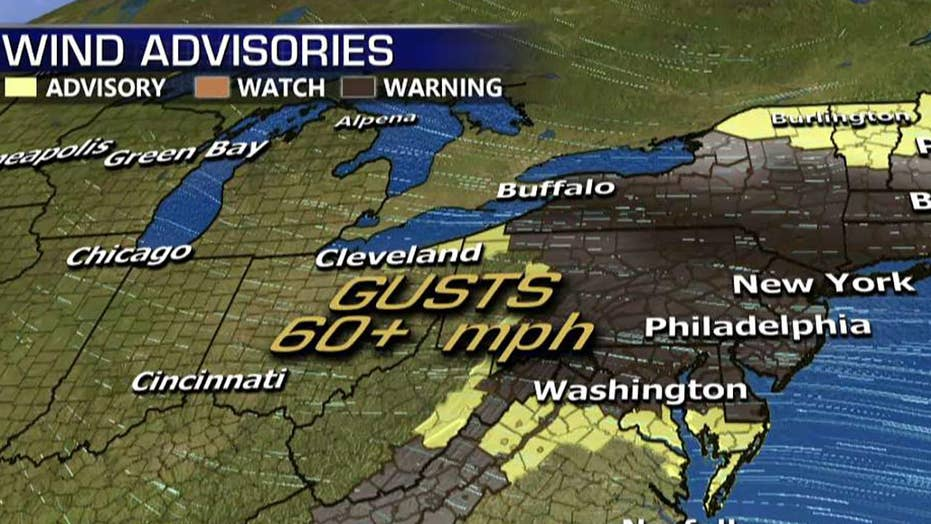 National forecast for Monday, February 25