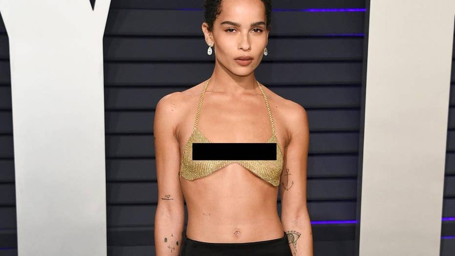Zoe Kravitz's barely there Oscar after-party outfit
