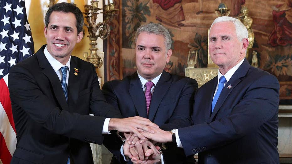 VP Pence meets with Venezuelan opposition leader Juan Guaido following weekend of violence
