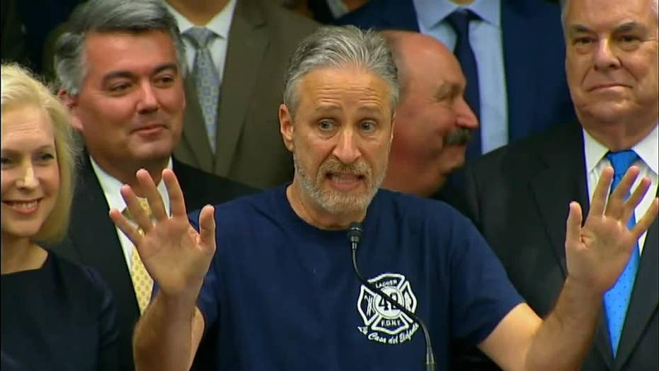 Jon Stewart on 9/11 Victim's Fund: The Trump Justice Dept. is doing an excellent job... it's Congress' job to fund it