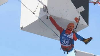 Athletes compete in world ice climbing competition