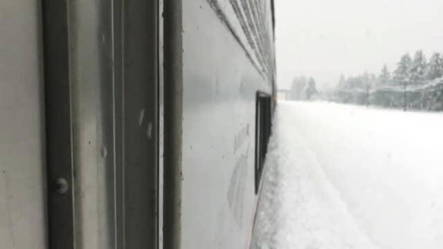 Amtrak train passengers stranded for over 24 hours