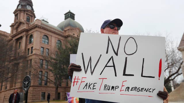 Three Republicans signal they'll join with Democrats opposing Trump's declaration of a national emergency