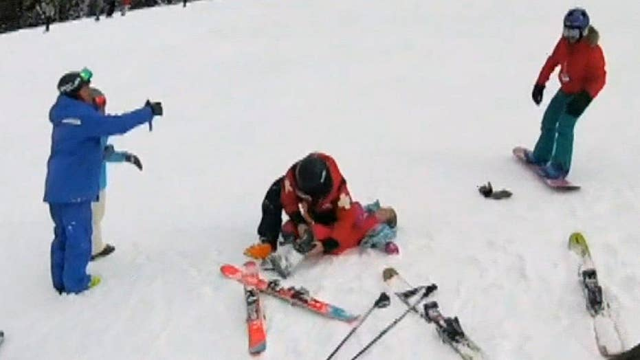 Little girl suffers compression fracture in her spine after falling off ski lift in Utah