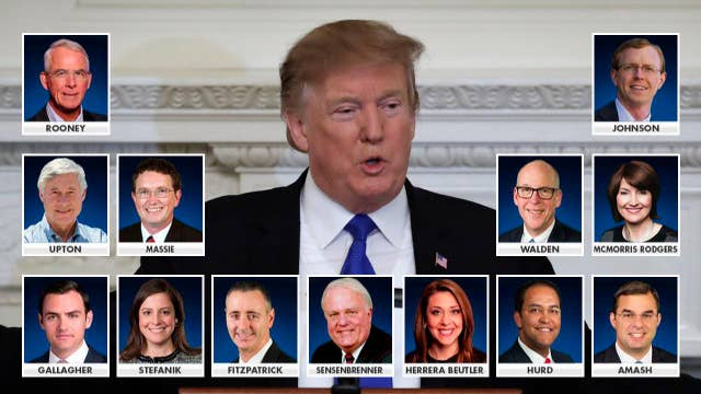 13 House Republicans vote to reject President Trump's national emergency declaration at the southern border