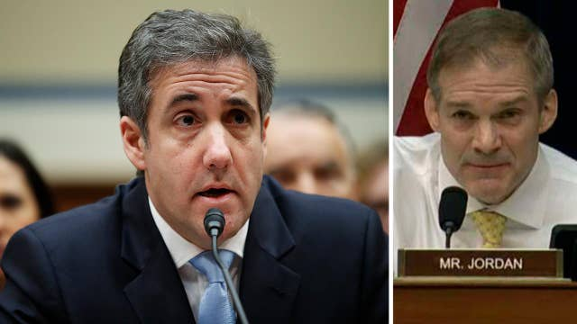 Rep. Jim Jordan argues Michael Cohen is upset he was not offered a job in the White House
