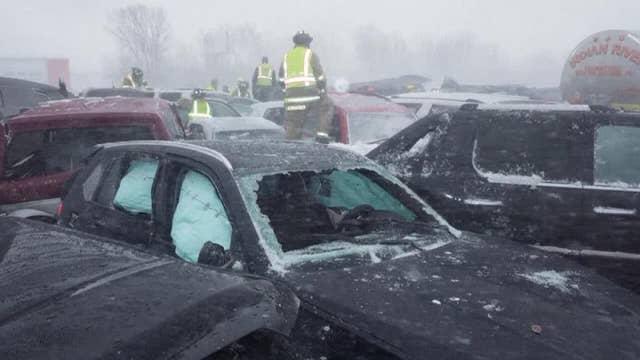 131-vehicle pileup in Wisconsin leaves one dead, 71 injured