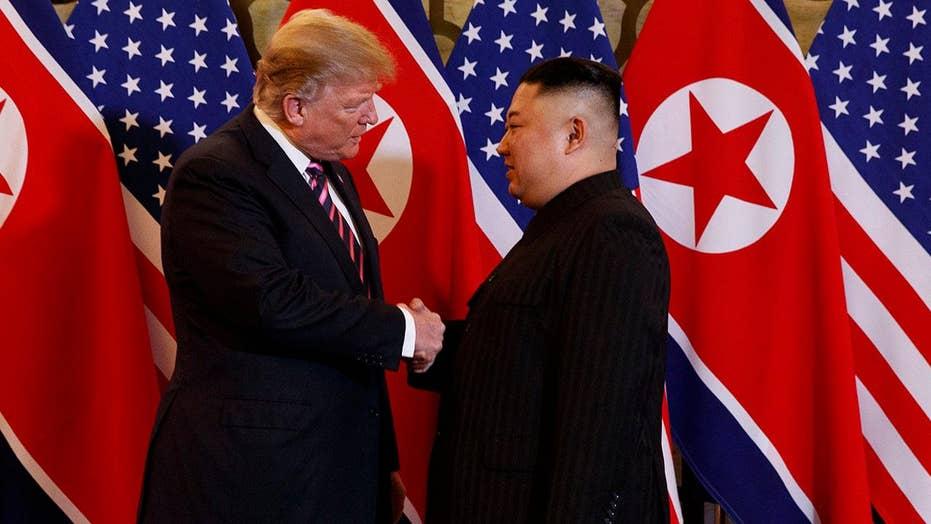 President Trump, Kim Jong Un make first joint appearance in Vietnam