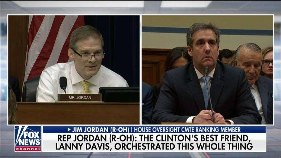Rep. Jim Jordan delivers opening statement at Cohen hearing.