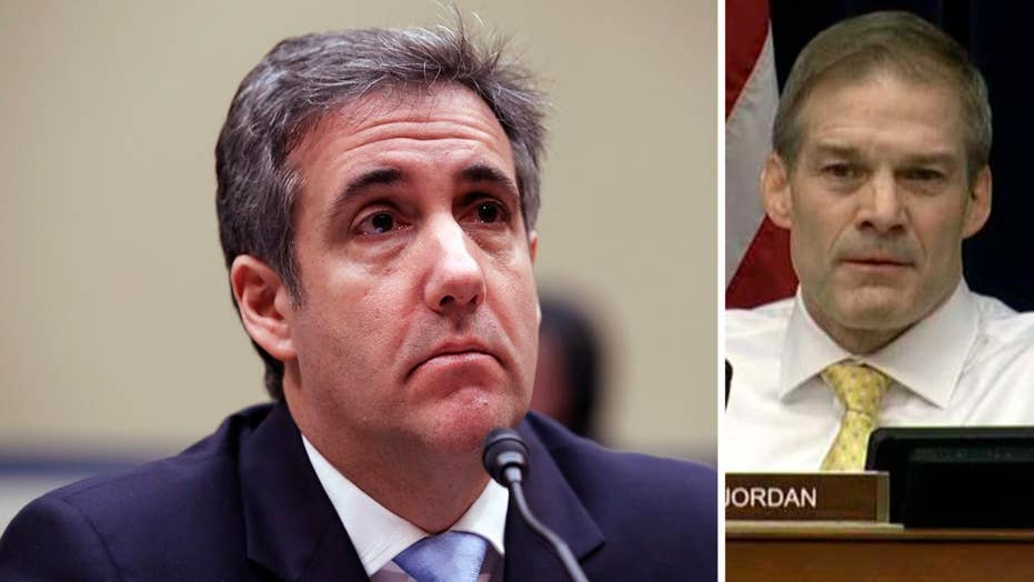 'Shame on you, Mr. Jordan': Cohen hits Republican for saying he has no remorse for crimes