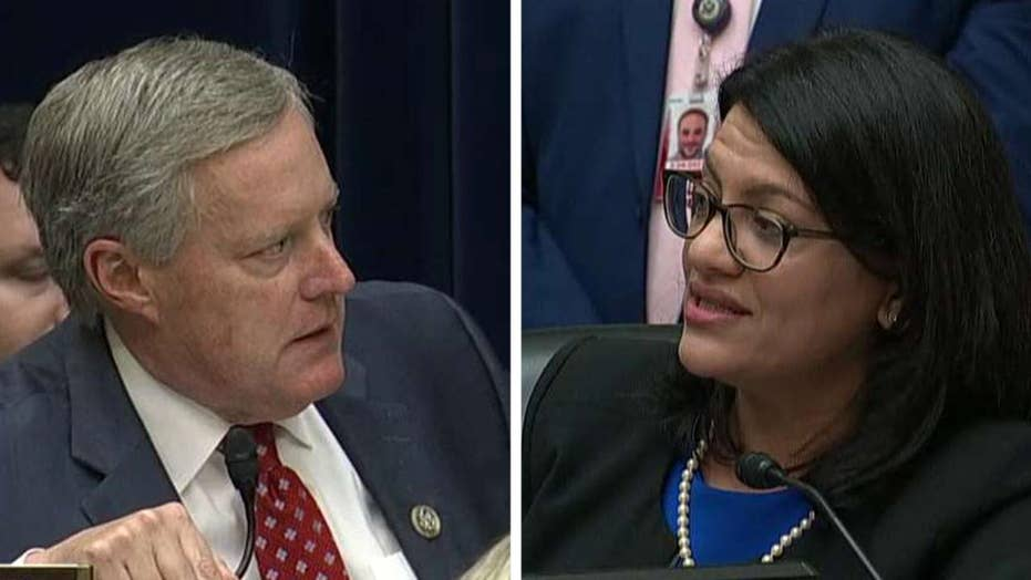 Representatives Tlaib and Meadows clash during Michael Cohen testimony