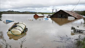 California experiences massive flooding caused by an 'atmospheric river' weather system