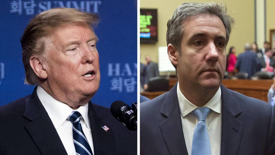 President Trump responds to 'fake hearing' with Michael Cohen