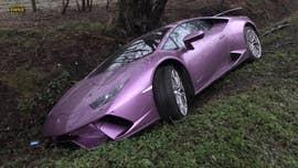 $250,000 Lamborghini Huracan found abandoned in a ditch