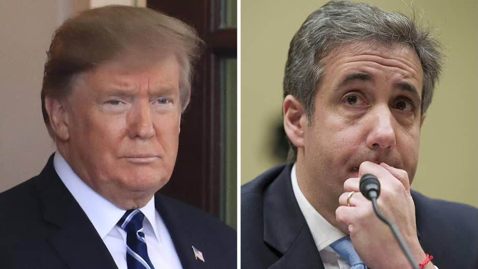 Trump alleges Cohen's new book proposal contradicts House testimony