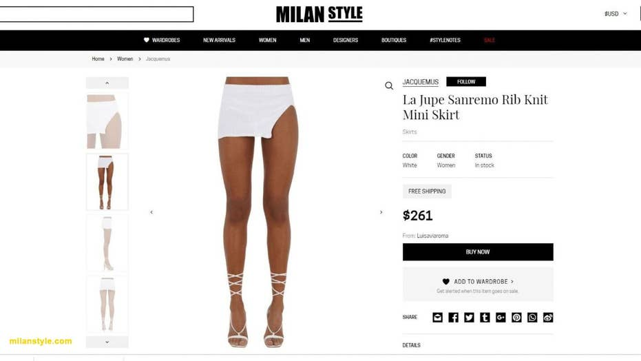 Fashion house sells extremely short miniskirt for $260