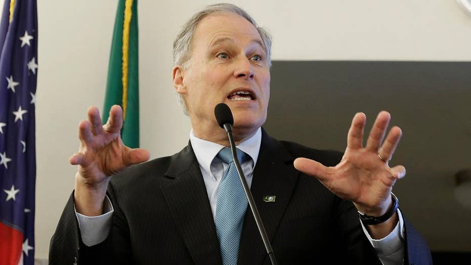 Washington Democratic Gov. Jay Inslee announces presidential bid