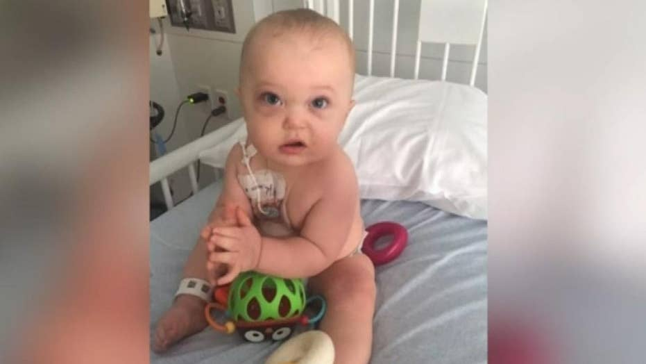 Baby diagnosed with extremely rare cancer beats the odds