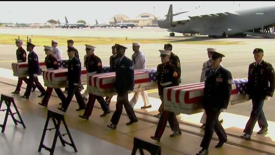 Whatever Happened to the transfer of remains of American war heroes returned from North Korea?