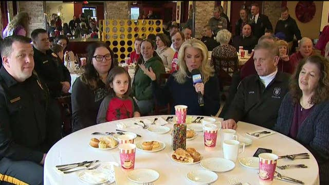 Janice is live from a New Jersey restaurant where diners are having breakfast with local law enforcement