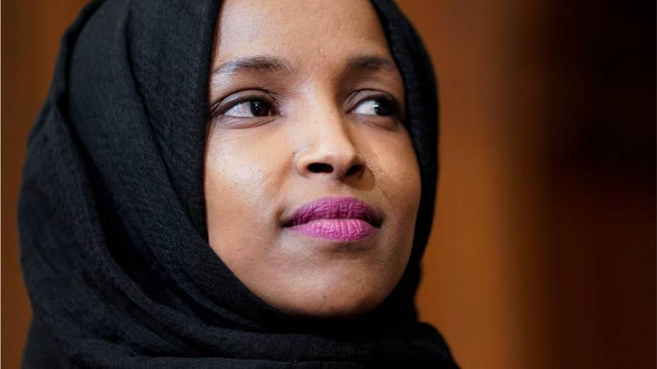 poster connecting rep  ilhan omar to 9  11 terror attacks