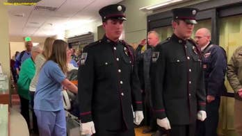 Firefighter with brain tumor given final escort through hospital on way to donate organs