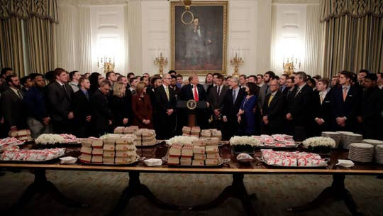 Trump serves fast food to North Dakota State Bison football team at White House
