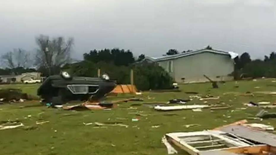 Tornadoes tear though Alabama leaving numerous people dead