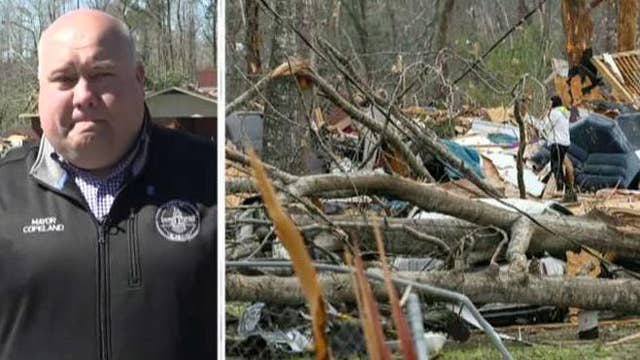 Mayor of Smiths Station, Alabama says tornado 'wiped out' his town