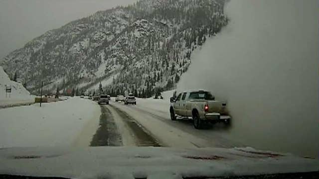 New dashcam video captures moment avalanche engulfs traffic on Colorado highway