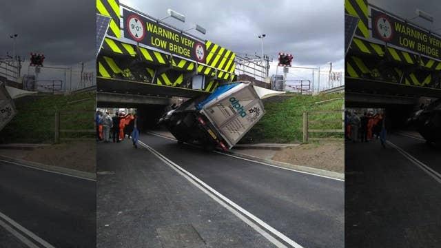 'Most bashed bridge' gets hit again