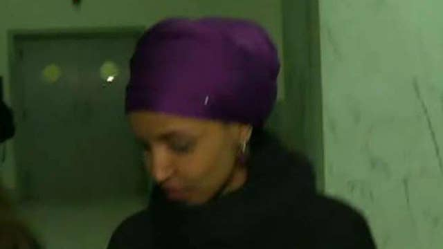 Freshman Rep. Ilhan Omar stays silent when asked whether or not she's anti-Semitic