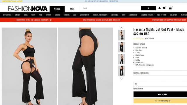 Twitter users bash Fashion Nova's 'cut-out' pants