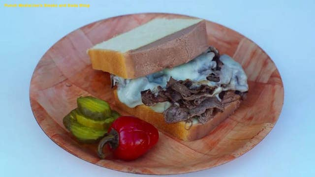 Philadelphia restaurant mashes two of the city's favorite foods to make a pound cake cheesesteak