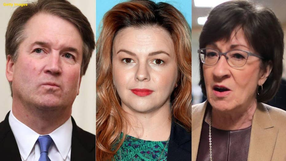 Amber Tamblyn speaks out about 'male grooming' in politics, points to Susan Collins as victim