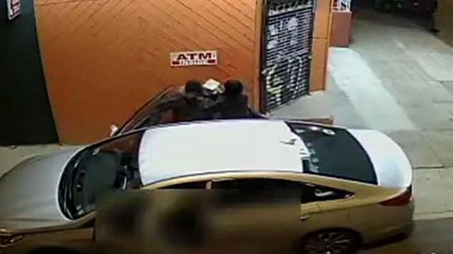 Surveillance video shows man stabbing Philadelphia Uber driver