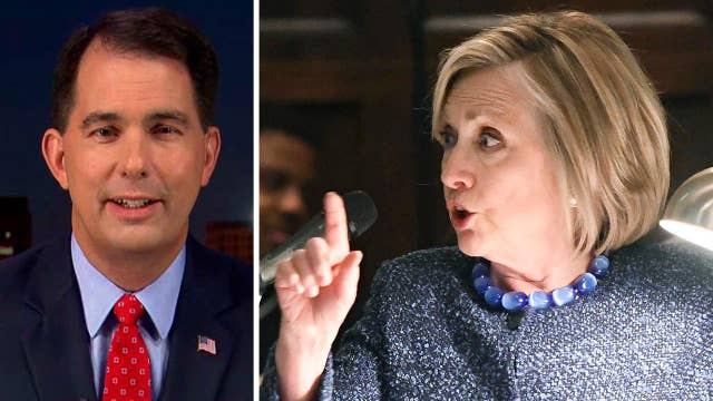 Scott Walker reacts to Hillary Clinton blaming Wisconsin voter suppression for 2016 loss
