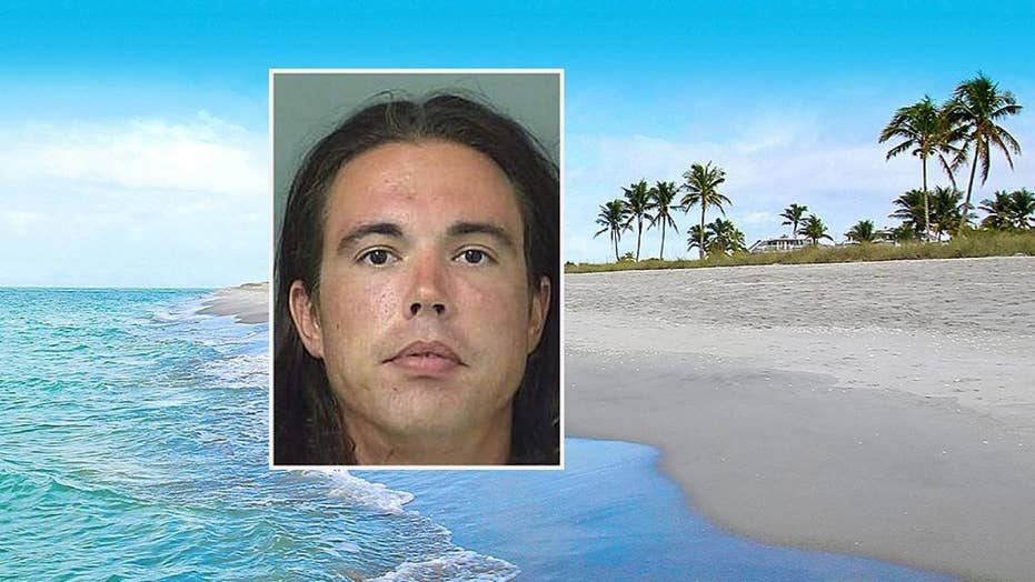 Groom Jeffery Alvord spends his wedding night in jail after breaking the nose of a photo-bombing beachgoer