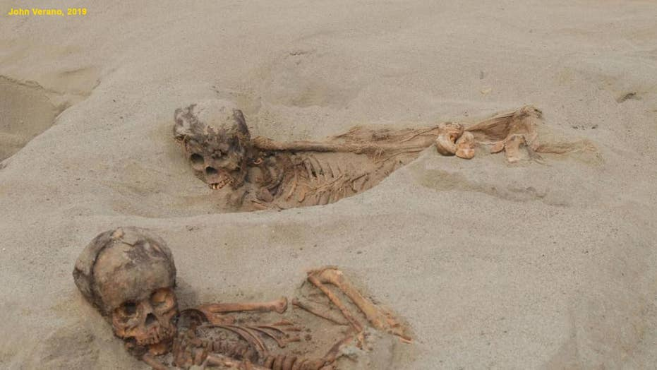 Sacrifice site found in Peru contains the remains of more than 140 children