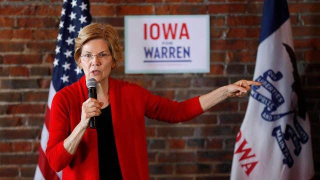 2020 Democratic presidential hopeful Elizabeth Warren calls for the breakup of giant tech companies
