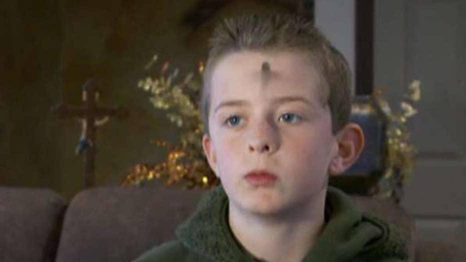 Fourth-grader told to remove Ash Wednesday ashes