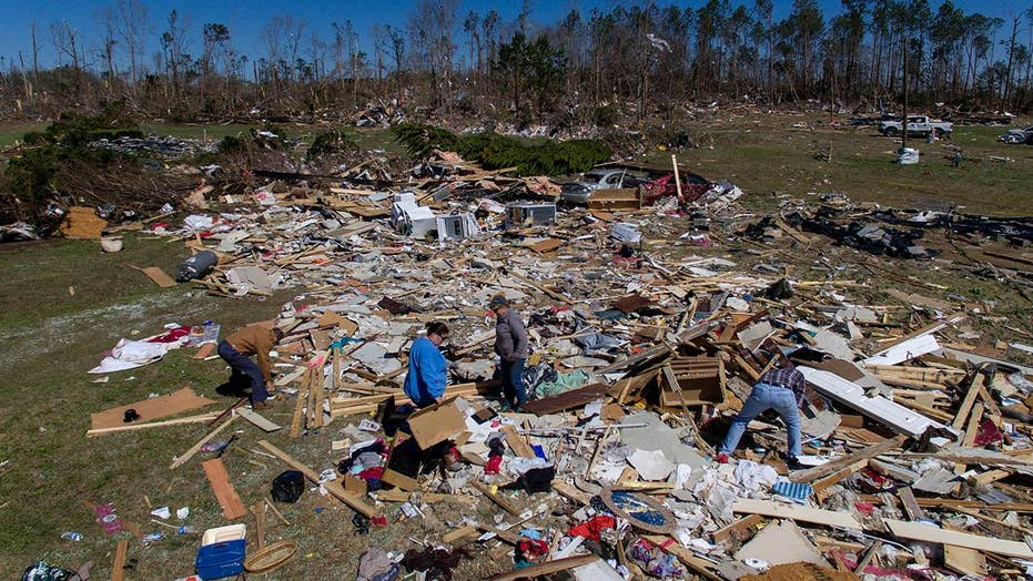 President Trump heads to Alabama to tour disaster areas, meet with first responders and tornado victims