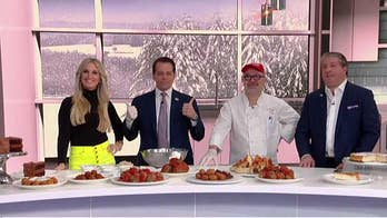 Anthony Scarmucci and his wife help 'Fox & Friends' celebrate National Meatball Day