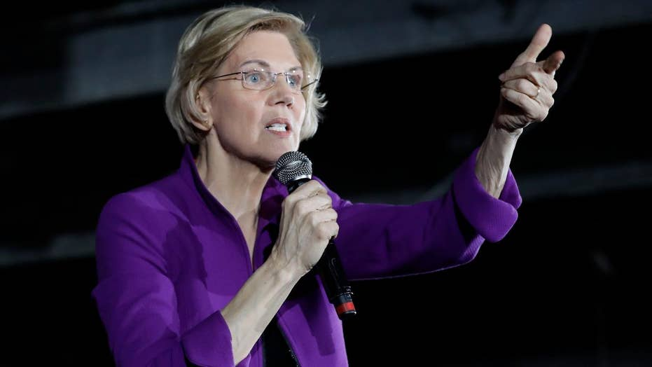 2020 Democratic presidential hopeful Elizabeth Warren proposes the breakup of big tech companies